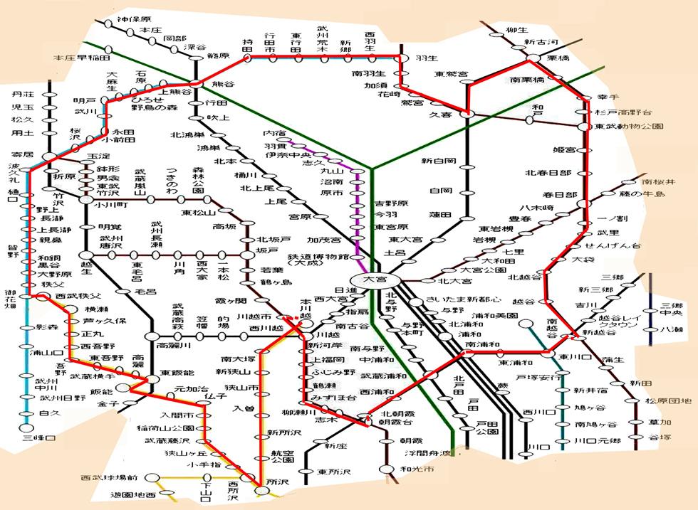 路線図 埼玉県